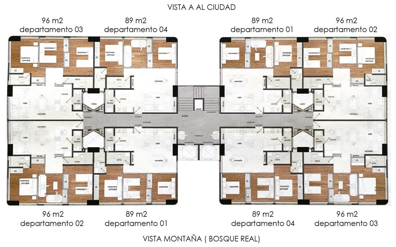 La realeza dinast a inmobiliaria for Departamentos decorados con plantas